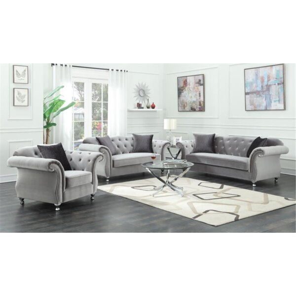 Drury 3 Piece Living Room Set by Rosdorf Park