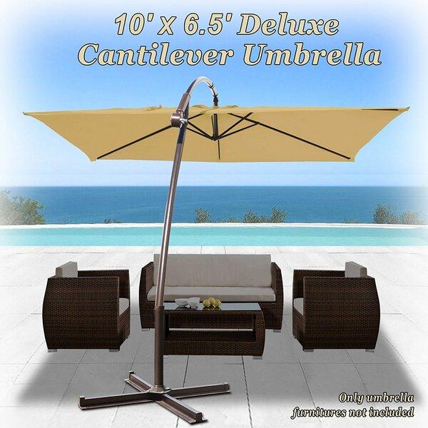 Tallulah Sunshade Hanging Outdoor 10' Cantilever Umbrella By Latitude Run