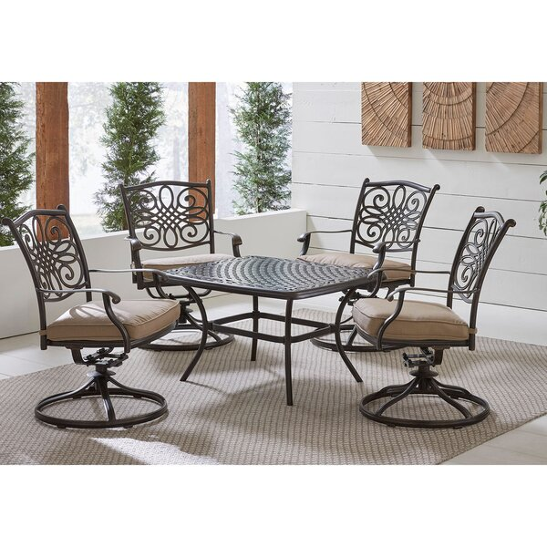 Carleton 5 Piece Dining Set by Fleur De Lis Living