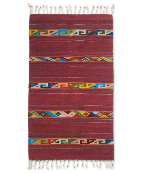 Weare Hand-Loomed Red Area Rug by Millwood Pines