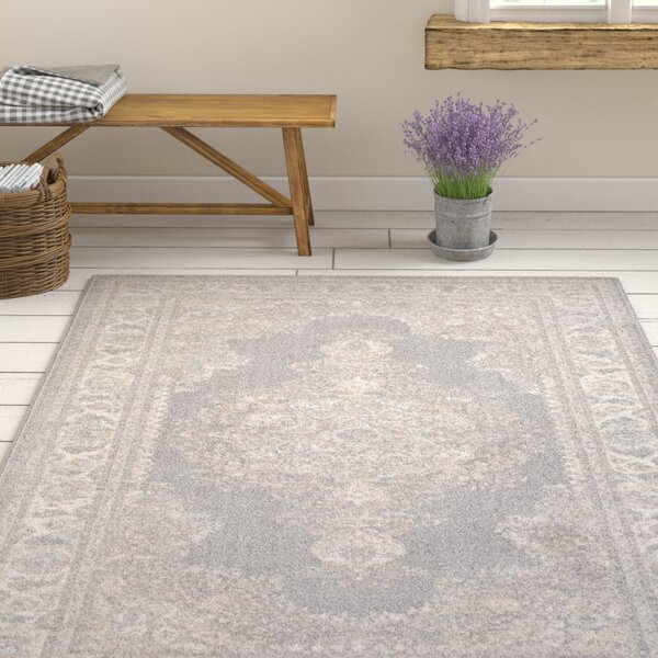 Kimbro Hand-Woven Gray/Ivory Area Rug by Ophelia & Co.