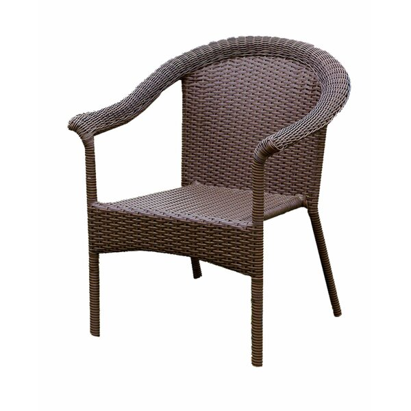 Therrien Contemporary Wicker Frame Aluminum Patio Chair by Alcott Hill