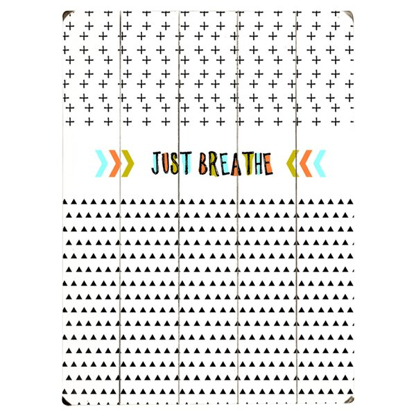Just Breathe Graphic Art Print Multi-Piece Image on Wood by Artehouse LLC
