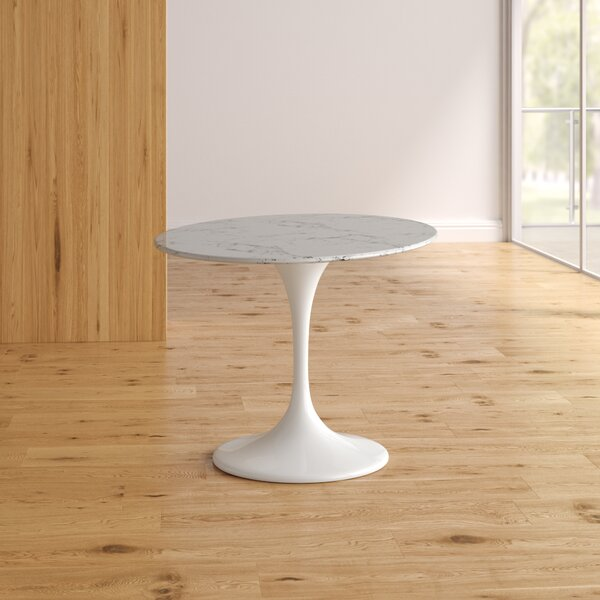 Find Kylee Artificial Marble Oval-Shaped Dining Table By Langley Street Discount