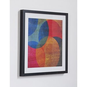 Neon Circle Framed Graphic Art by Graham & Brown