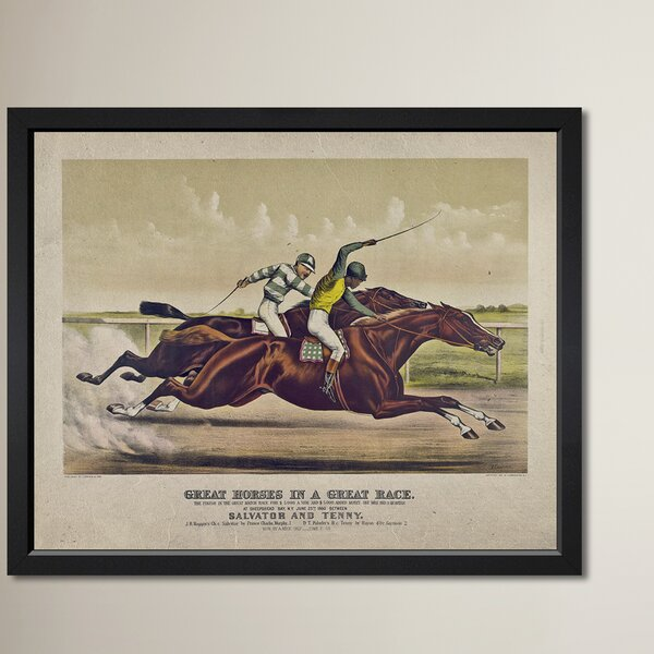 The Great Race Framed Graphic Art by Three Posts