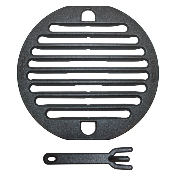 10'' Cast Iron Grate with Lifter BBQ Smoker Grill Accessories by Jim Beam