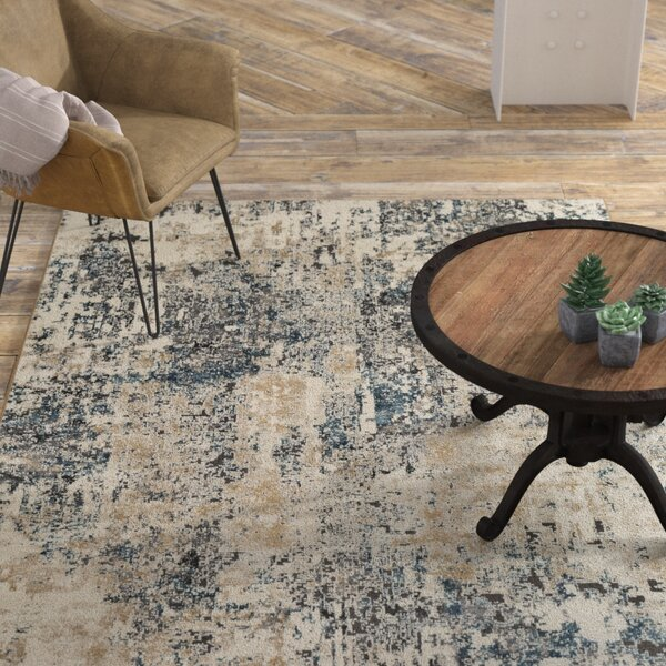 Mckeever Abstract Taupe/Charcoal Area Rug by Williston Forge