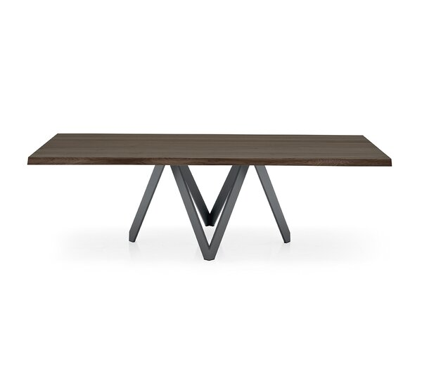 Cartesio - Table (Irregular Sculpted Edge) - Matt Gray Metal Legs by Calligaris