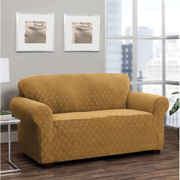 Box Cushion Loveseat Slipcover By Winston Porter