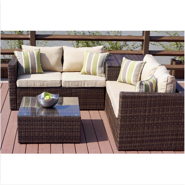 Ginnie 4 Piece Sofa Set with Cushions by Brayden Studio