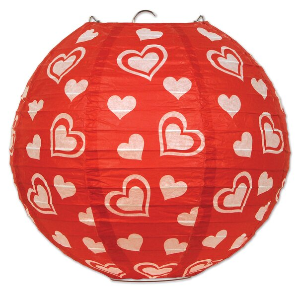 Heart Paper Lantern Lamp (Set of 6) by The Holiday Aisle