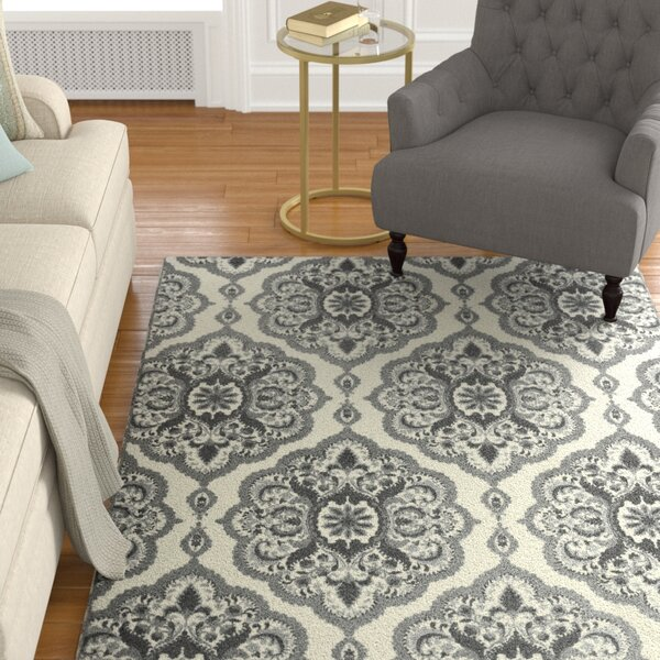 Hertel Gray Area Rug by Charlton Home
