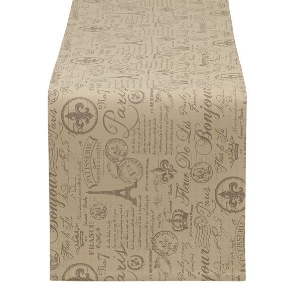 French Flourish Printed Table Runner by Design Imports