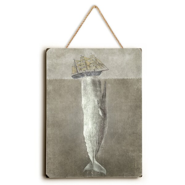 White Whale Painting Print by Breakwater Bay