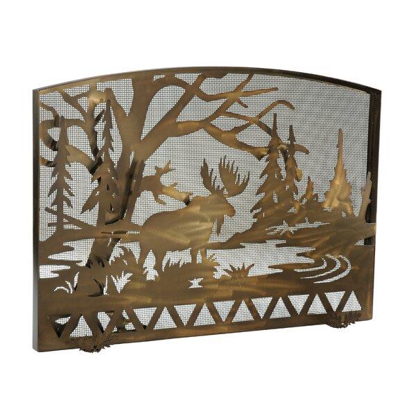 Moose Creek Single Panel Fireplace Screen By Meyda Tiffany