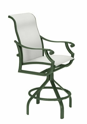 Montreux II Sling Swivel 25 Patio Bar Stool by Tropitone