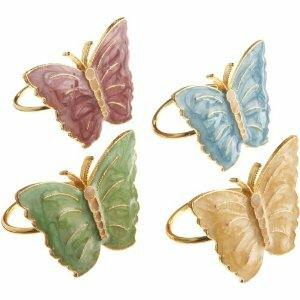 Butterfly Meadow Napkin Rings (Set of 4) by Lenox