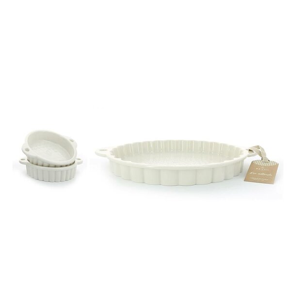 Les Naturels Non-Stick 3 Piece Tartlet Dish and Pan Set by Revol