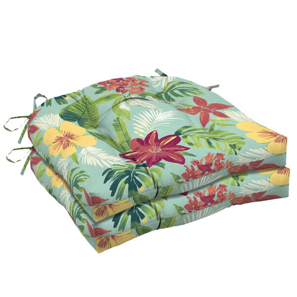 Kitts Tropical Outdoor Dining Chair Cushion (Set of 2)