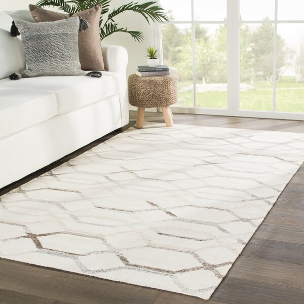 Swanson Handmade Dhurrie Ivory Area Rug by Bay Isle Home