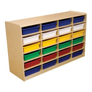 Find 24 Compartment Cubby with Trays By Wood Designs