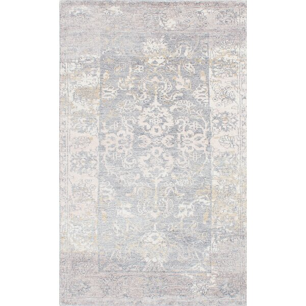 Cayla Hand-Knotted Blue/Beige Area Rug by One Allium Way