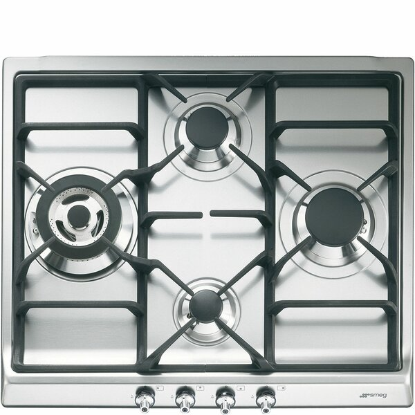 24 Gas Cooktop with 4 Burners by SMEG