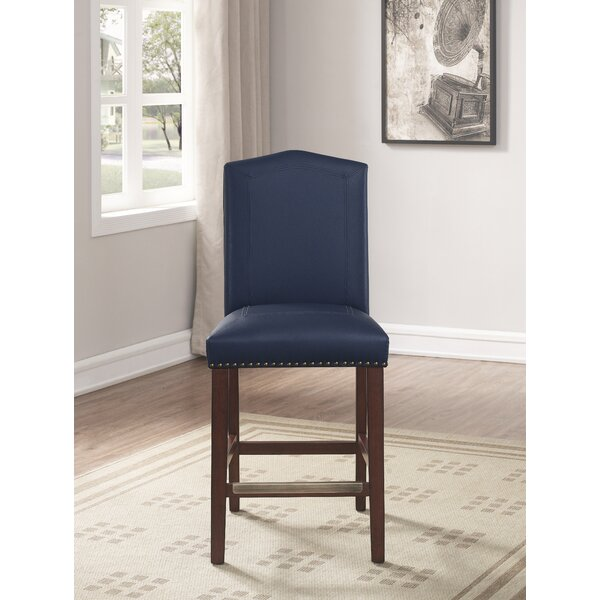 Purser Leather 24 Bar Stool by Darby Home Co