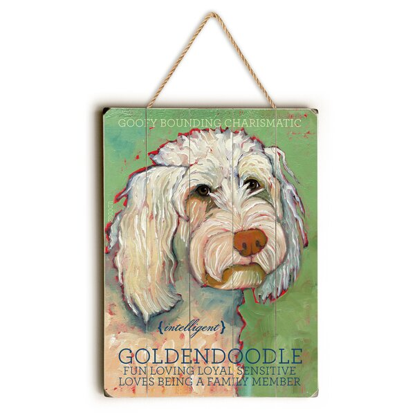 Goldendoodle Graphic Art by Red Barrel Studio