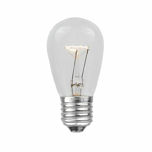 11W E26 Novelty Lights Outdoor Patio Party Replacement Bulbs (Set of 25) by Novelty Lights