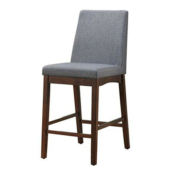 Reich Cotton Upholstered Ladder Back Parsons Chair In Gray (Set Of 2) By Ebern Designs