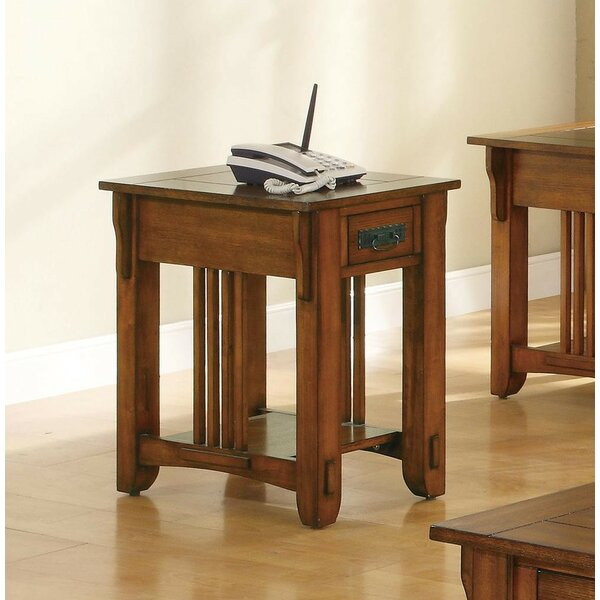 Pagoda Occasional Drawer End Table by August Grove