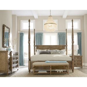 Gerakies King Four Poster Configurable Bedroom Set by Bay Isle Home