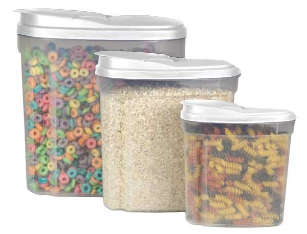 3 Canister Cereal Dispenser Set by Home Basics