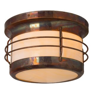 Check Prices Balboa 1-Light Outdoor Flush Mount By America's Finest Lighting Company