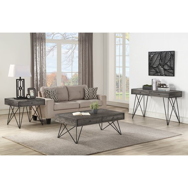 Kamille 3 Piece Coffee Table Set by Foundry Select Foundry Select