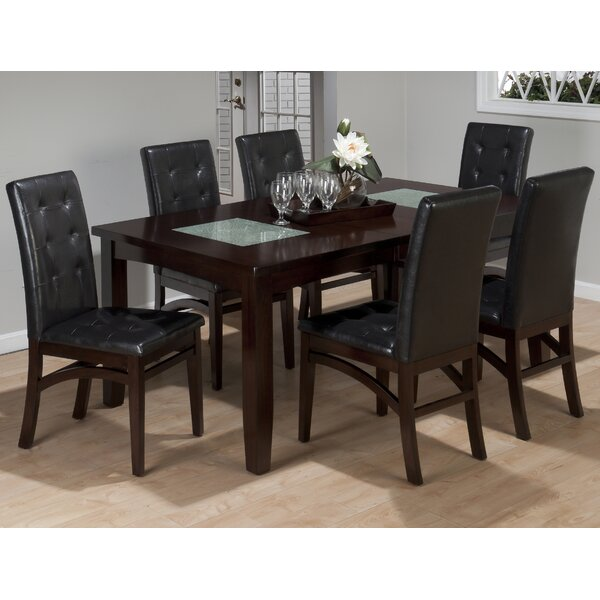 Roberto 7 Piece Extendable Solid Wood Dining Set by Red Barrel Studio