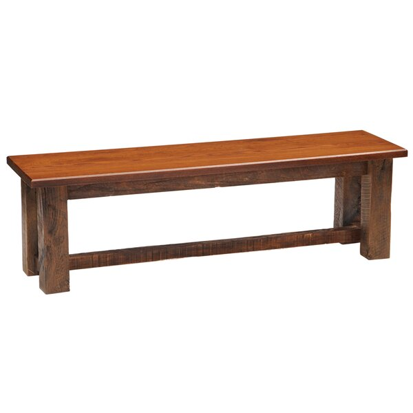 Reclaimed Wood Bench by Fireside Lodge