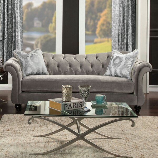 Ponce Chesterfield Sofa by Rosdorf Park