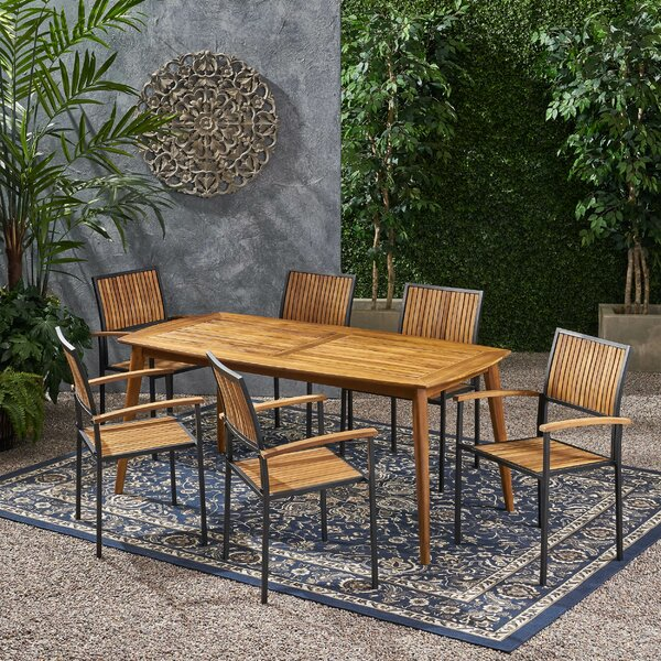 Hartsdale Outdoor 7 Piece Dining Set by Union Rustic