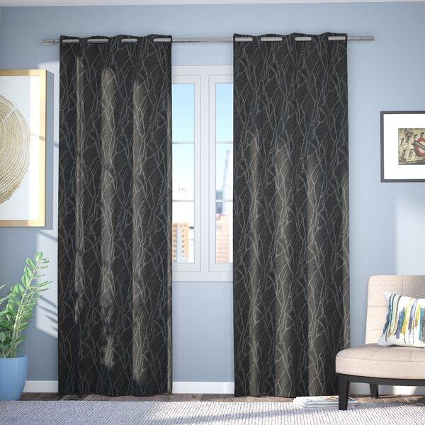 Waut Geometric Blackout Thermal Grommet Curtain Panels (Set of 2) by Brayden Studio