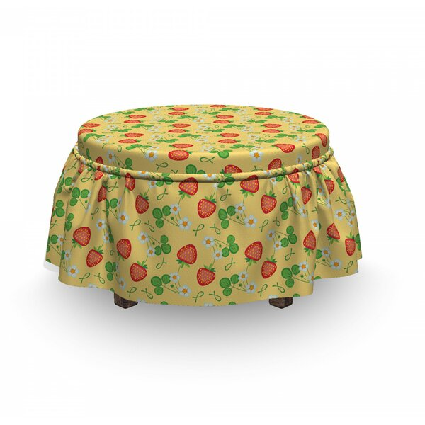 Healthy Summer Fruits Ottoman Slipcover (Set Of 2) By East Urban Home