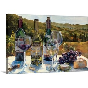 'A Wine Tasting' by Marilyn Hageman Painting Print on Wrapped Canvas by Great Big Canvas