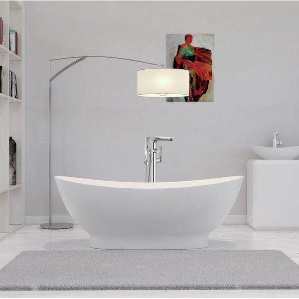 63 x 34 Freestanding Soaking Bathtub by Streamline Bath