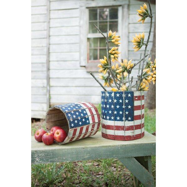 Kirkby Flag 2 Piece Wooden Pot Planter Set by August Grove