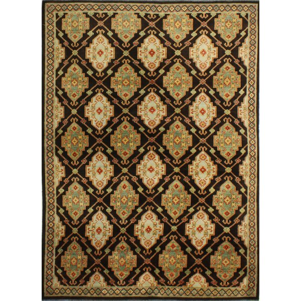 One-of-a-Kind Shiffer Hand-Knotted Wool Brown Area Rug by Isabelline