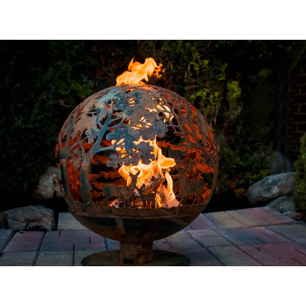 Fancy Flames Globe Wildlife Fire Outdoor Fire Pit by EsschertDesign