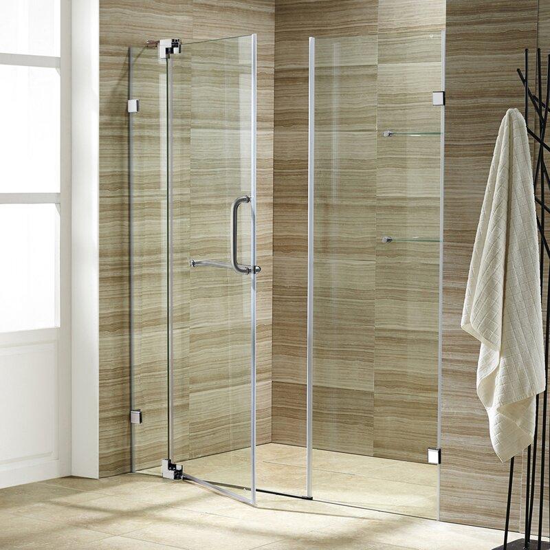 Pirouette 60 X 72 Pivot Frameless Shower Door
