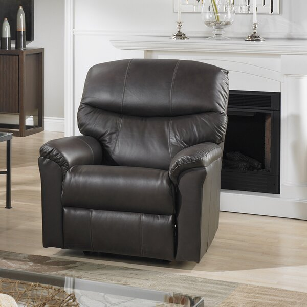 Uno Leather Power Rocker Recliner by Relaxon